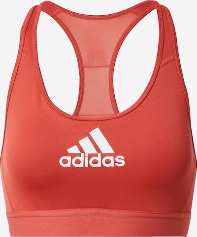 ADIDAS PERFORMANCE Sport-BH in hellrot / weiß, Produktansicht