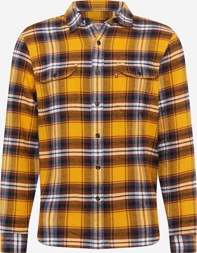 LEVI'S Bayerisk skjorte 'JACKSONWORKER' i guldgul / sort / hvid, Produktvisning