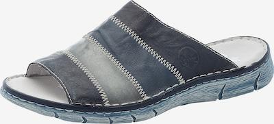 RIEKER Pantolette in blau / nachtblau / grau, Produktansicht