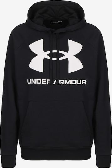 UNDER ARMOUR Sweatshirt 'Rival Fleece Big Logo' in de kleur Zwart / Wit, Productweergave