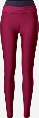 Pantaloni sport de la ADIDAS PERFORMANCE pe roșu