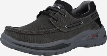 SKECHERS Αθλητικό παπούτσι με κορδόνια σε μαύρο