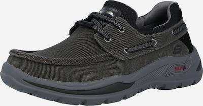Pantofi cu șireturi sport SKECHERS pe negru / negru amestecat, Vizualizare produs