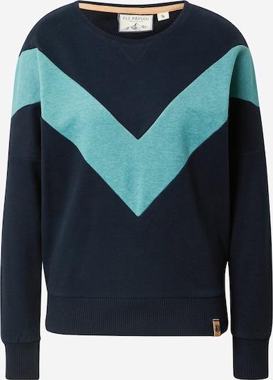 Fli Papigu Sweatshirt 'Handyvertrag anderer Name' in Turquoise / Night blue, Item view