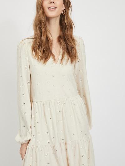 Rochie 'Saniana' VILA pe crem, Vizualizare model