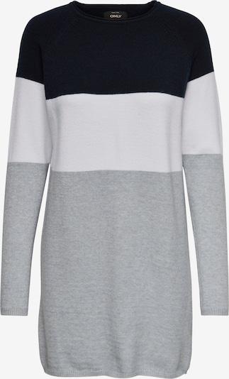 ONLY Kleid 'LILLO' in nachtblau / grau / weiß, Produktansicht