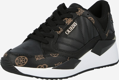 Sneaker low 'TRAVES' GUESS pe maro deschis / negru, Vizualizare produs