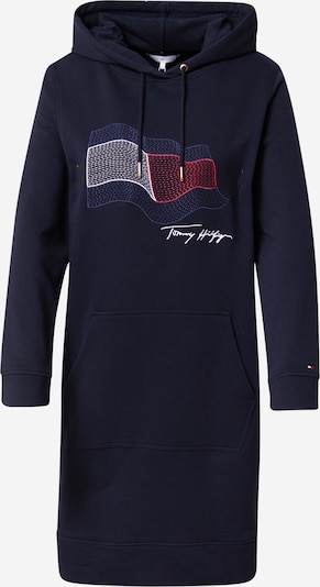 TOMMY HILFIGER Kleid in navy / nachtblau / rot / weiß, Produktansicht