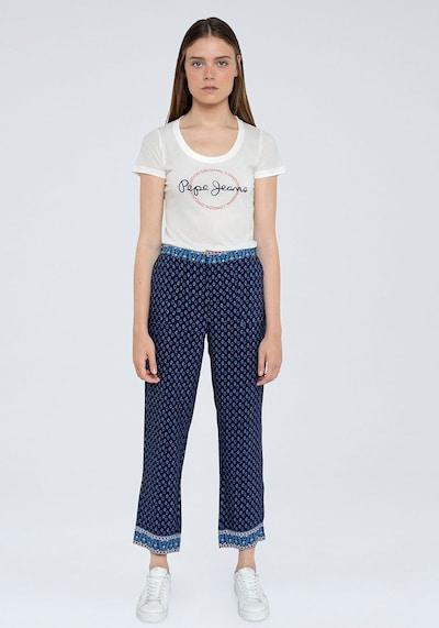 Pepe Jeans Hose 'Romina' in dunkelblau / rot, Modelansicht