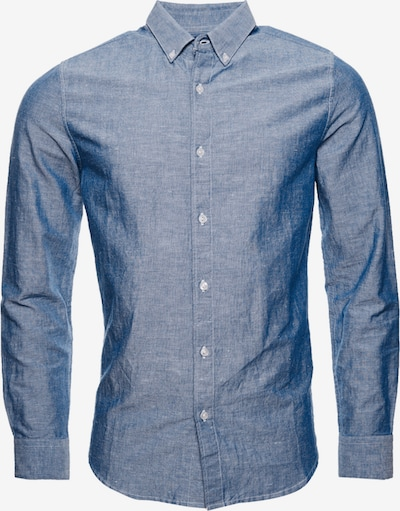 Superdry Edit Leinenhemd mit Button-down-Kragen in blau, Produktansicht