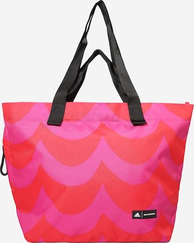 ADIDAS PERFORMANCE Sporttasche 'Marimekko' in neonpink / neonrot / schwarz / weiß, Produktansicht