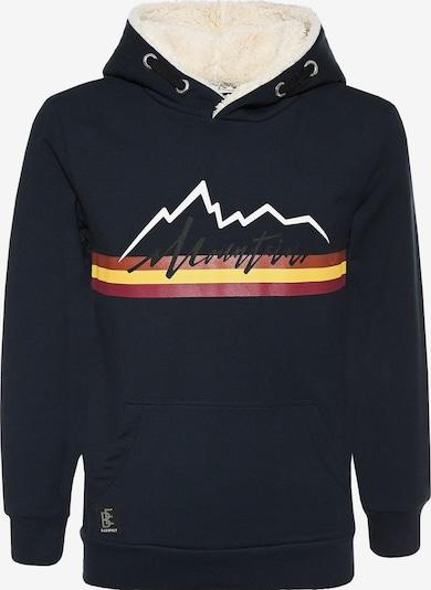 BLUE EFFECT Sweater majica u boja pijeska / noćno plava / žuta / miks boja / crna, Pregled proizvoda