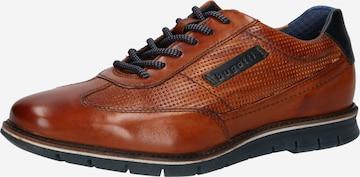 bugatti Δετό παπούτσι 'Simone' σε καφέ