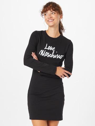 Love Moschino Jurk in Zwart