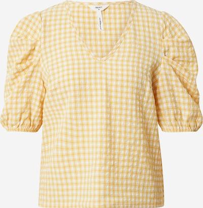 OBJECT Blouse 'TAMAR' in de kleur Sinaasappel / Wit, Productweergave