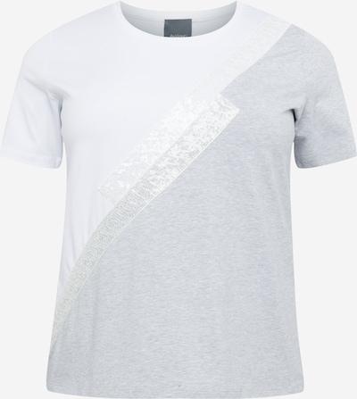 Persona by Marina Rinaldi T-shirt 'VANDA' en gris / blanc: Vue de face