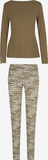 LingaDore Pyjama en crème / marron, Vue avec produit