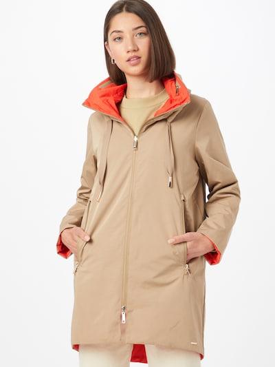 Demisezoninis paltas iš RINO & PELLE, spalva – kapučino spalva / oranžinė-raudona, Modelio vaizdas