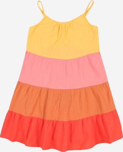 OshKosh Jurk in de kleur Geel / Donkeroranje / Rosé / Lichtrood, Productweergave