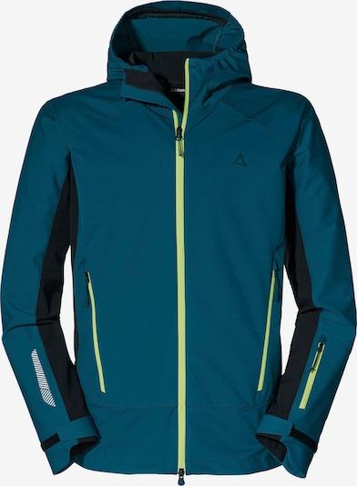 Schöffel Jacke 'Miara' in marine / neongrün / schwarz, Produktansicht