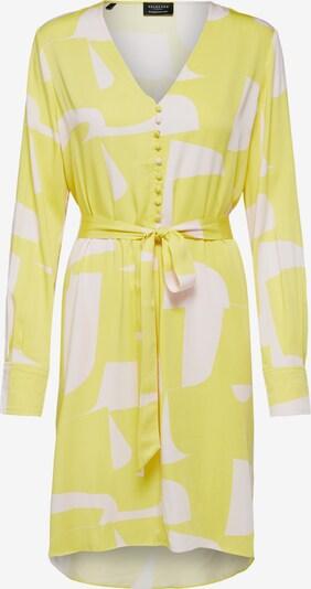 SELECTED FEMME Sukienka w kolorze żółty / białym, Podgląd produktu