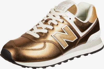 new balance Sneakers laag '574' in de kleur Oker / Goud / Wit, Productweergave