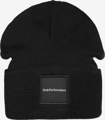 PEAK PERFORMANCE Athletic Hat in Black