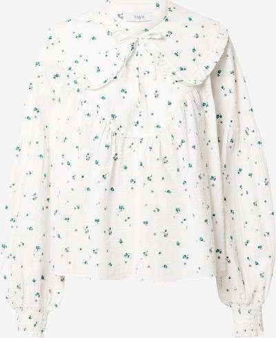 Envii Bluse 'HERB' in grün / jade / weiß, Produktansicht