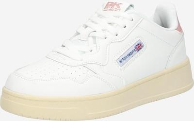 BRITISH KNIGHTS Baskets basses en rose / blanc, Vue avec produit