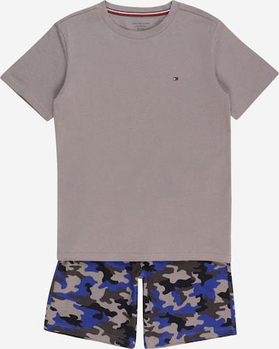 Tommy Hilfiger Underwear Pyjama en bleu marine / gris basalte / greige / noir, Vue avec produit