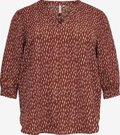 ONLY Carmakoma Bluse in braun / weiß, Produktansicht