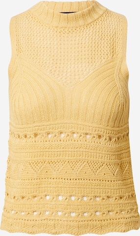Gina Tricot Knitted Top 'Hilma' in Yellow