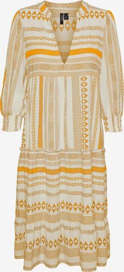 VERO MODA Kleid 'Dichte' in sand / goldgelb / weiß, Produktansicht