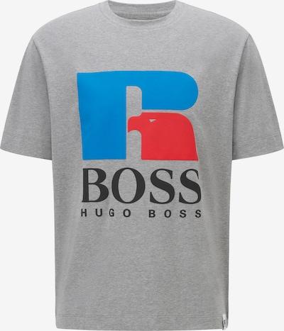 Tricou 'Russell Athletic' BOSS Casual pe albastru / gri amestecat / roșu deschis / negru, Vizualizare produs