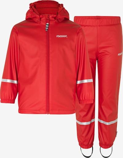Racoon Outdoor Regenbekleidung 'Sailor' in silbergrau / rot, Produktansicht