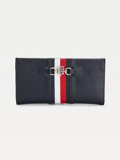 TOMMY HILFIGER Geldbörse in dunkelblau / rot / weiß, Produktansicht