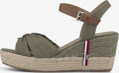 TOM TAILOR Sandale in braun / grün, Produktansicht