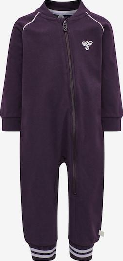 Hummel Jumpsuit in dunkellila / weiß, Produktansicht