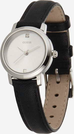 GUESS Аналогов часовник 'GENUINE' в черно / сребърно, Преглед на продукта