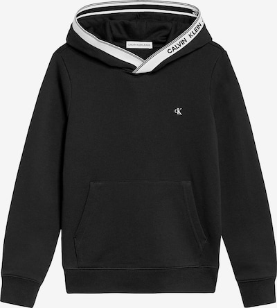 Calvin Klein Jeans Sweatshirt in schwarz / weiß, Produktansicht