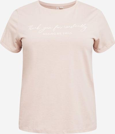 ONLY Carmakoma Camiseta 'BEGINS' en rosa / blanco, Vista del producto