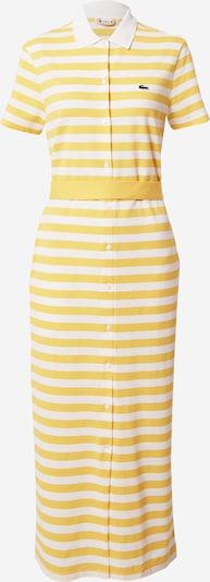 LACOSTE Robe-chemise en jaune / blanc, Vue avec produit