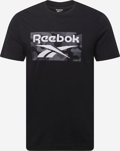Reebok Sport Functioneel shirt in de kleur Grijs / Grijs gemêleerd / Zwart / Wit, Productweergave