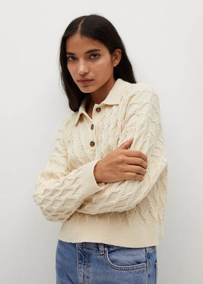 MANGO Pullover 'Azores' in nude, Modelansicht