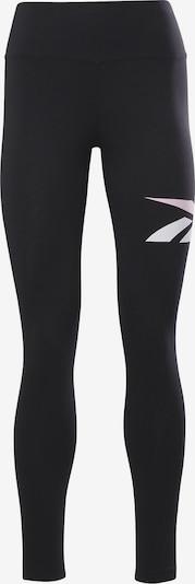 Reebok Sport Leggings in schwarz / weiß, Produktansicht