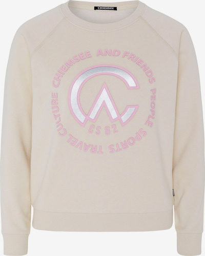 CHIEMSEE Sportovní mikina 'Yutmara' - růžová / perlově bílá, Produkt