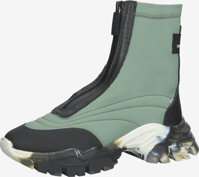 BRONX Stiefelette in pastellgrün / schwarz / weiß, Produktansicht