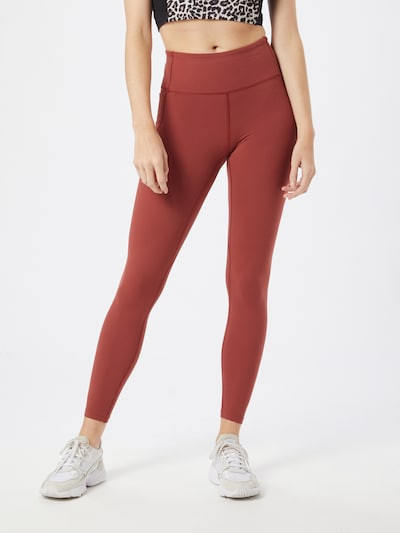UNDER ARMOUR Leggings 'Meridian' in dunkelrot: Frontalansicht