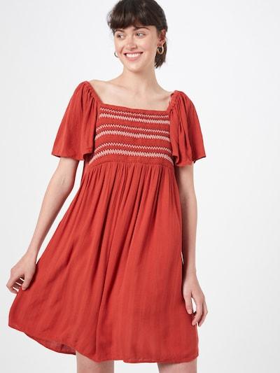 EDC BY ESPRIT Kleid in braun / weiß, Modelansicht