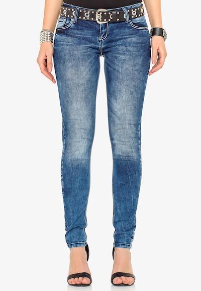 CIPO & BAXX Jeans 'WD286' in de kleur Blauw: Vooraanzicht